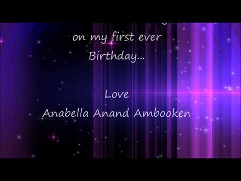 Background  on 1st  birthday