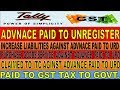 GST All Accounting Adjustment Entries for Advance Paid to Unregistere