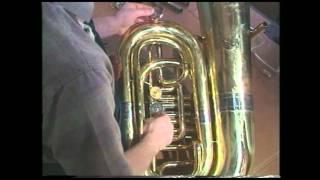 tuba repair 12 rotary valve removal jeff funderburk