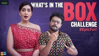 What's In The Box Challenge EPIC FAIL || ft. Raashi Khanna || Kaasko || Tamada Media