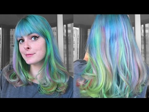 Dyeing My Hair Blue With RAINBOW Highlights! Using Ion, Manic Panic, And Special Effects