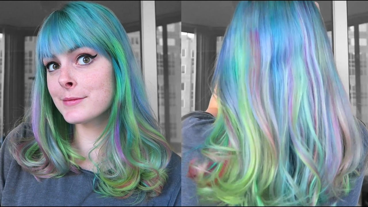 Dyeing My Hair Blue With Rainbow Highlights Using Ion Manic Panic