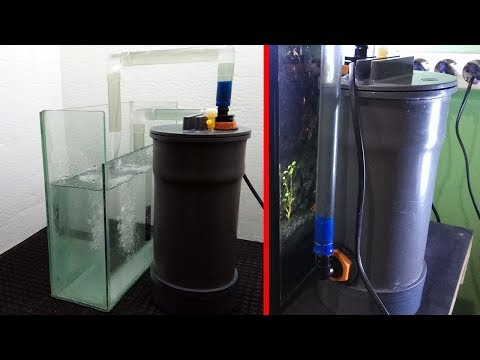 How to make DIY Canister filter with air exhaust hole (complete tutorial)