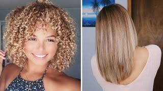 how i straighten my naturally curly hair ashley bloomfield