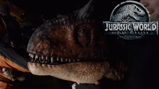 New Jurassic World Fallen Kingdom Behind The Scenes Footage Analysis - Carnotaurus and Ian Malcolm!