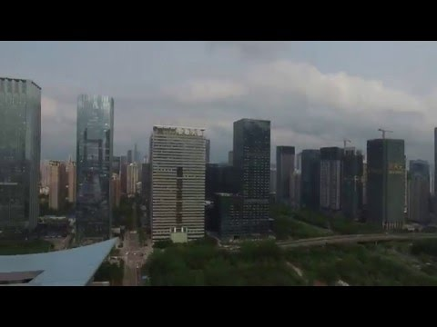 Impossible Drone Footage - Flying above Shenzhen Civic Cente