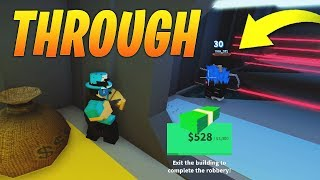 SHOOT *THROUGH* WALLS IN JAILBREAK! NEW GLITCH! (Roblox)