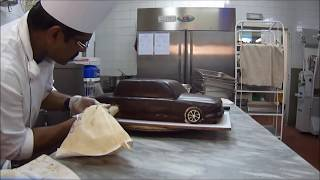 CHOCOLATE CAR CAKE MAKING KTM ALI THAMARASSERY.