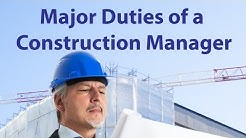 Major Duties of a Construction Manager