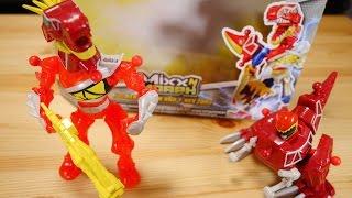 組み替え自由なアクションフィギュア!パワーレンジャー ミックスNモーフ レッドレンジャー&T-レックスゾード レビュー Power Rangers Mix N Morph thumbnail
