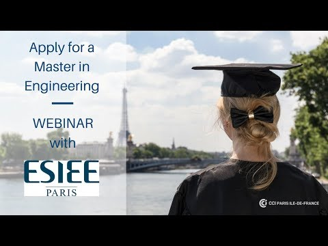 Apply for a Master in Engineering with ESIEE Paris
