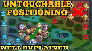 POSITIONING TIPS AND TRICKS   POSITION LIKE A GOD   MOBILE LEGENDS POSITIONING