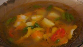 Суп с беконом и зеленой стручковой фасолью