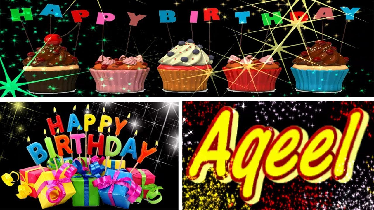 Aqeel Happy Birthday Song With Name