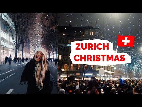 Zurich, Switzerland | Christmas Lights and Market