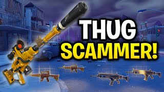 Insanely Rich Thug Scams Lui-même! (Scammer Get Scammed) Fortnite sauver le monde