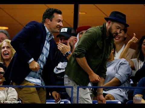 Jimmy Fallon and Justin Timberlake dance to Beyonce at U.S. Open