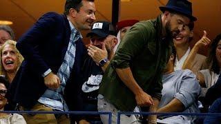 Jimmy Fallon and Justin Timberlake dance to Beyonce at U.S. Open