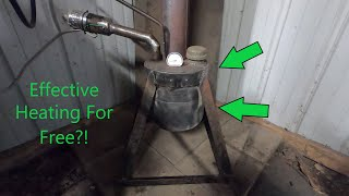 How to Build a Small, Low cost, High Output Waste Oil Heater! (Free Heat!?)