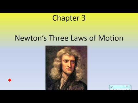 Newton's First Law of Motion and Forces.  (Physics Ch. 3, Part 1)