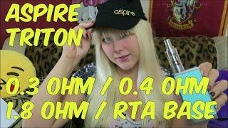 Aspire Triton Tank Review! High ohm, low ohm, temp coils, & RTA!   TiaVapes