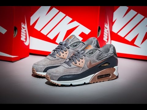 Nike Air Max 90 Leather Iron Metallic Red Bronze Sail YouTube