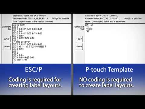 Brother - Label Printer ( P-touch Template ) - YouTube