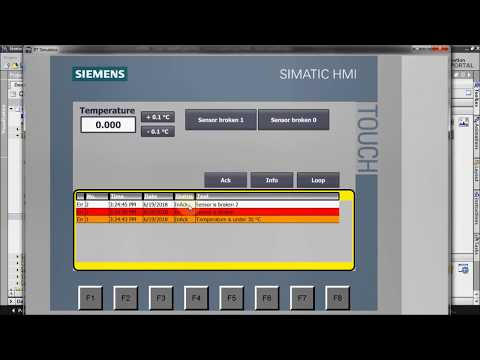 HMI programming tutorial TIA Portal - 5. Alarms : Alarm view (Part 7/7) thumbnail