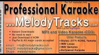 Saathiya nahi jana ke jee na lage - Rafi Lata KarAoke - www.MelodyTracks.com