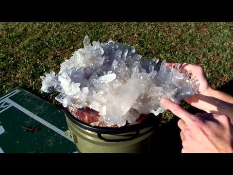 "HUGE ""End Table Size"" MUSEUM CLUSTER - Massive Arkansas Quartz Crystal Mineral"