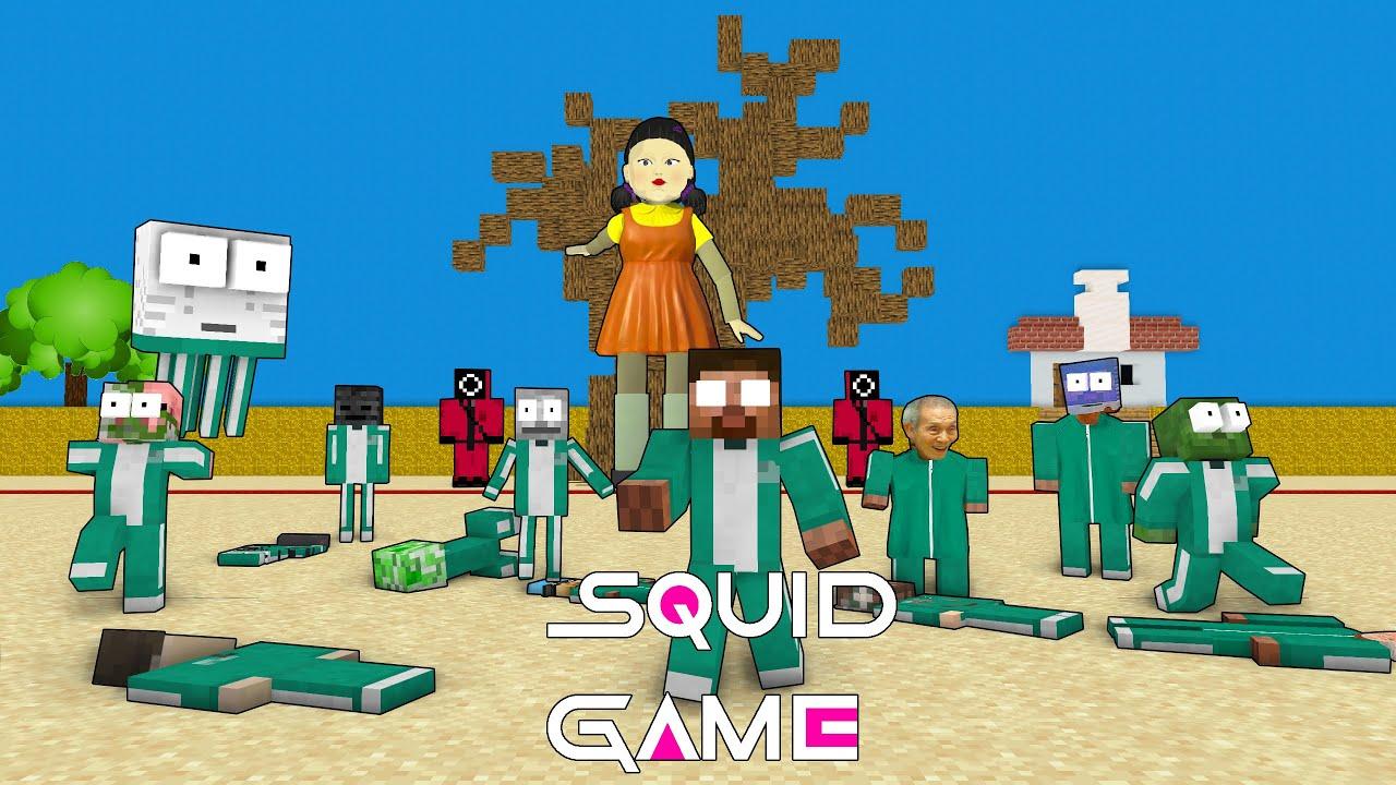 Download Monster School : SQUID GAME RED LIGHT GREEN LIGHT CHALLENGE - Minecraft Animation