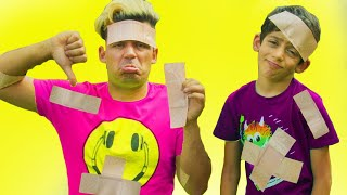 Jason and funny stories with sticky tape