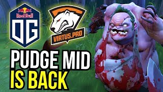 PUDGE MID is BACK - OG vs VP Amazing Pudge Play by NoOne | Dota 2