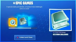 I Got ICE STORM Challenges And EVERY ITEM TO UNLOCK in Fortnite Battle Royale!