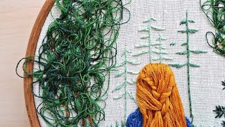 Hair embroidery method 1