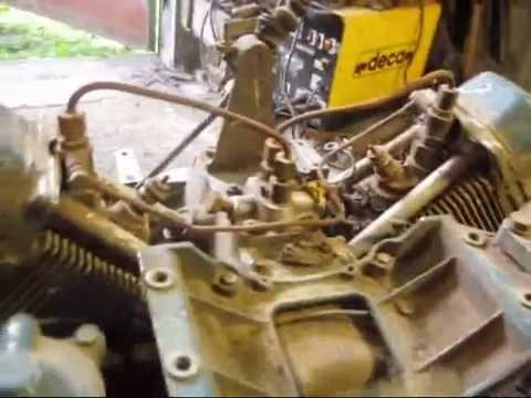 МИНИТРАКТОР Ремонт дизеля 1982г. IFA 2 VD 8/8-SVL Обзор двигателя перед розборкой.Видео 1.