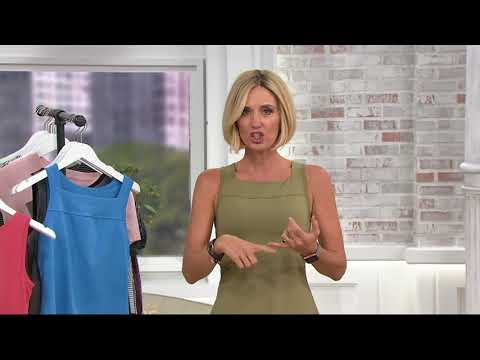 AnyBody Move Stretch Jersey Tank Top with Shelf Bra on QVC