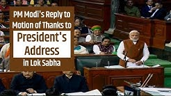 PM Modi's Reply to Motion of Thanks to President's Address in Lok Sabha | PMO