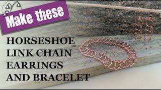 Horseshoe Link Chain Earrings …