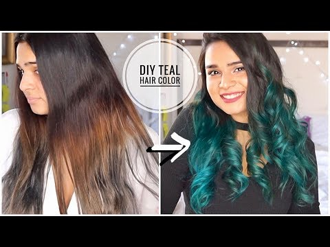 DIY Teal Mermaid Hair Color At Home   Manic Panic Atomic Turquoise   Part 2- FIX Hair Color Mistakes
