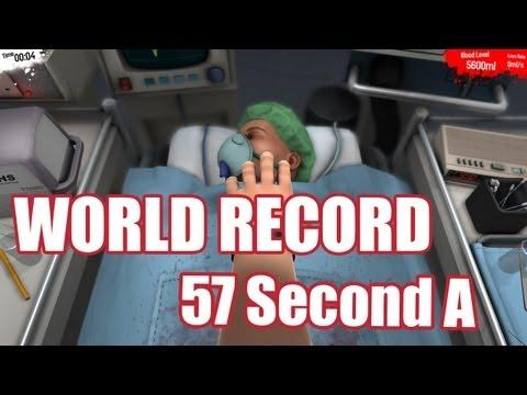 WORLD RECORD: 57 Second Double Kidney Transplant   Surgeon Simulator 2013