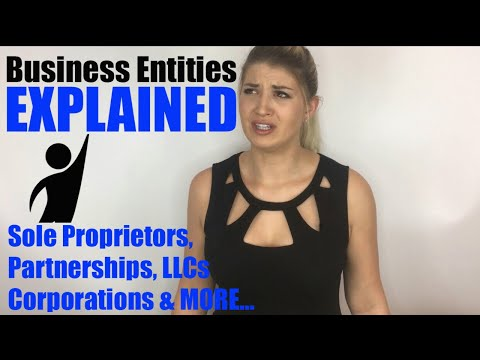Business Entities And Structures Explained - Sole Proprietor, Partnerships, LLCs, & Corporations
