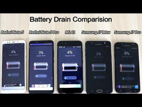 Xiaomi Redmi Note 5 Pro Vs Redmi Note 5 Vs Mi A1 Vs Samsung J7 Max Vs J7 Pro Battery Drain !! HINDI