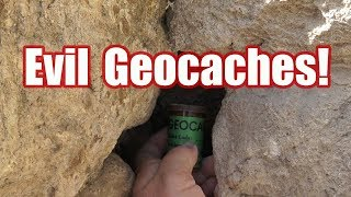 Five EVIL and creative Geocache hides in one day! screenshot 3