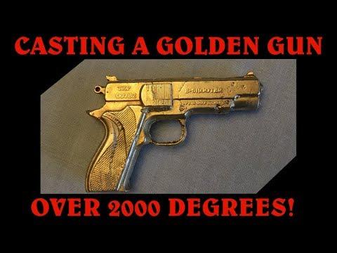 Making a Golden Gun from Aluminum Cans and Copper Wire