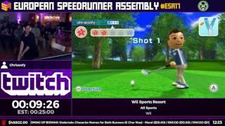 #ESA17 Speedruns - Wii Sports Resort [All Sports] by Chrisoofy