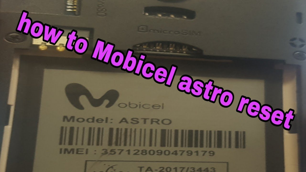 How to reset mobicel astro