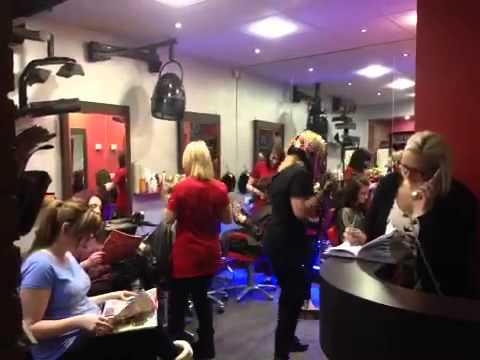 Harlem shake mirror image salon Cheadle stoke on trent girls