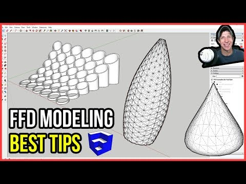 BEST TIPS for Modeling with FFD in SketchUp!