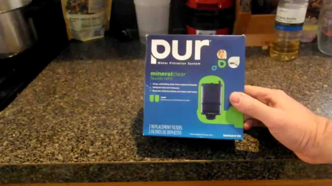 PUR Mineral Clear Faucet Filter Review - YouTube